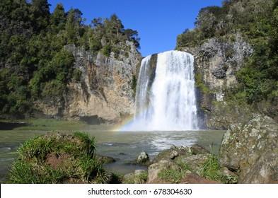 Landscape of Hunua Falls in the North Island of New Zealand.