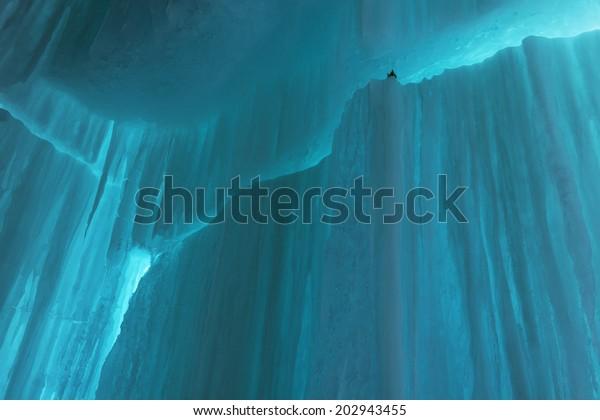 Landscape of an ice cave, Grand Island National Recreation Area, Lake Superior, Michigan's Upper Peninsula, USA