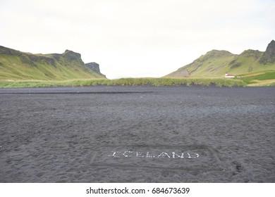 Landscape in Iceland.
