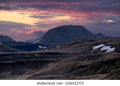Landscape of icelandic highlands