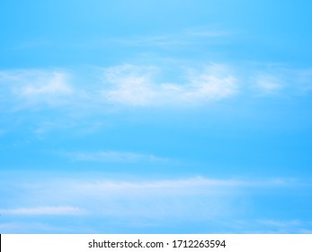 Landscape image of blue sky and thin clouds