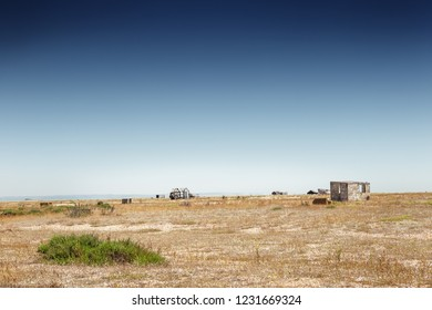landscape image of Dungeness Marsh in england