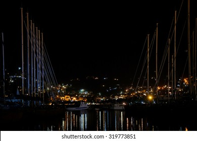 Landscape with the image of a night Bar, Montenegro