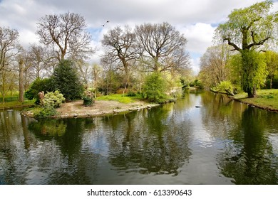Landscape image from Queens Park in London, England