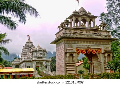 Landscape image of the Sai Baba temple locate in the temple town of Triambakeshwar located in the Indian city of Nashik,Maharashtra