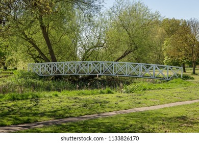 landscape image of St Neots park in the county of Cambridgeshire, England