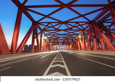 Landscape with iron bridge
