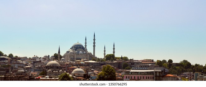Landscape in Istanbul with saint sophie