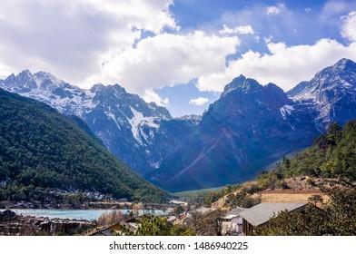 Landscape of Jade dragon snow mountain,Lijiang,Yunnan,China