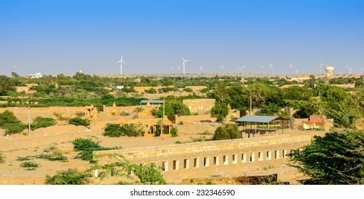 Landscape of Jaisalmer, Rajasthan, India