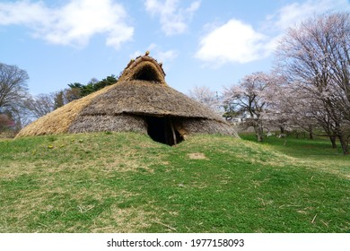 Landscape of the jomon ruins - Idojiri ruins in japan                           - Shutterstock ID 1977158093