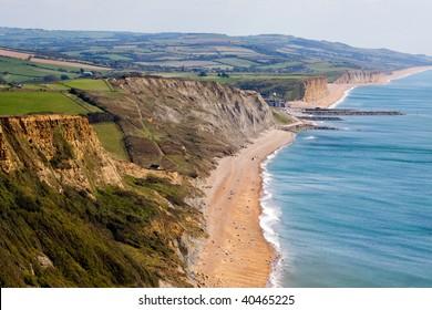 A landscape of the Jurassic coastline in Dorset England