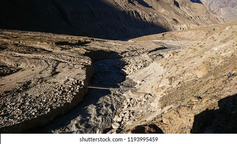 Landscape of K2 trekking trail in Karakoram range, Trekking along in the Karakorum Mountain in Northern Pakistan