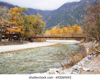 Landscape of Kamikochi national park in autumn, Nagano, Japan