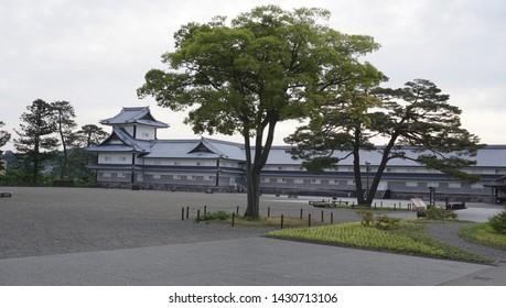 The landscape of Kanazawa castle park