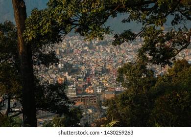 landscape of Katmandu city Nepal