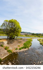 Landscape of Katsura River in Arashiyama, Kyoto