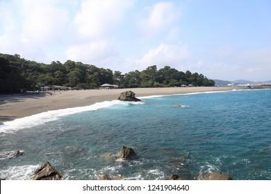 Landscape of Katsurahama beach of Kochi Prefecture, Japan.