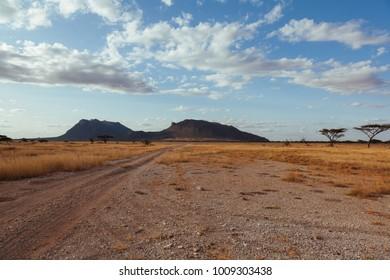 Landscape in Kenya, Samburuland,