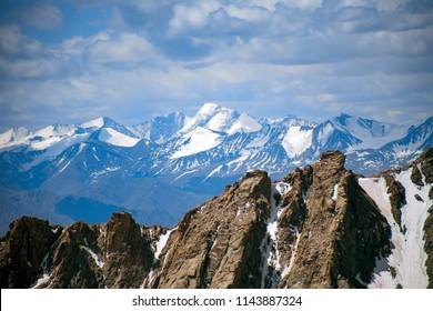 Landscape at the Khardungla pass, The highest road in the world, Leh Ladakh, Jammu and kashmir, India