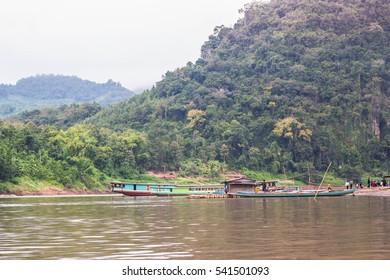 Landscape of Khong river at north Laos.