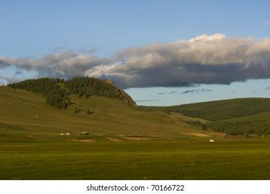 Landscape in Khovsgol national park, Mongolia