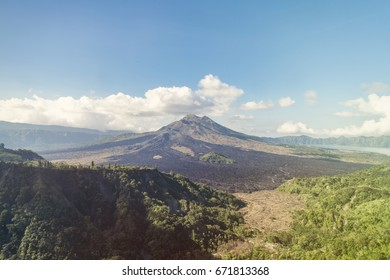 Landscape with Kintamani volcano on Bali island