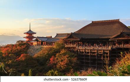日本京都夕景の清水寺