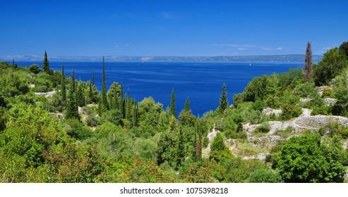 Landscape of Korcula Dalmatia Croatia