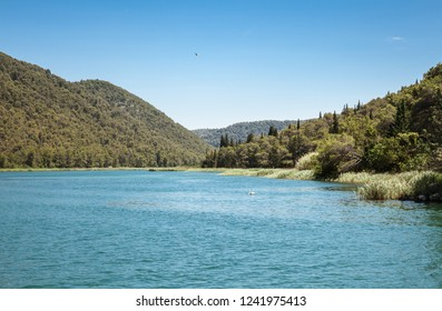 Landscape of Krka national park in Croatia