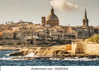 Landscape of La Valetta in Malta.