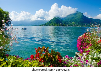 Landscape of lake annecy