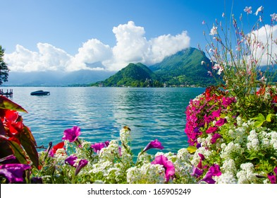 Landscape of lake annecy