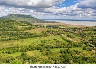 Landscape at lake Balaton, Badacsony from Hungary,