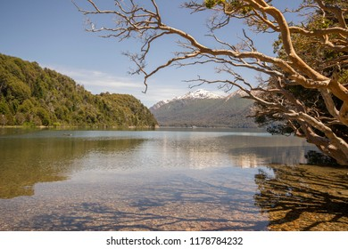 Landscape of lake of Bariloche, a city in the province of Río Negro, Argentina, situated in the foothills of the Andes on the southern shores of Nahuel Huapi Lake