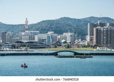 Landscape of Lake Biwa, Japan, Shiga prefecture, Japan