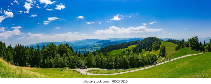 Landscape of the Lake Constance or Bodensee with view from the mountain Pfänder in Austria