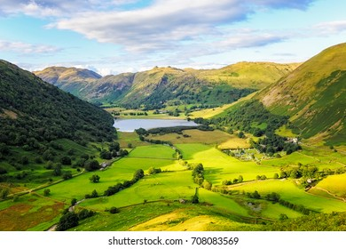 Landscape of Lake District National Park, Uk.