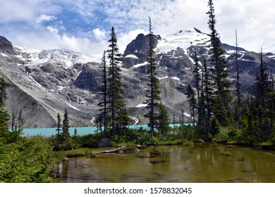 landscape lake mountains view tree