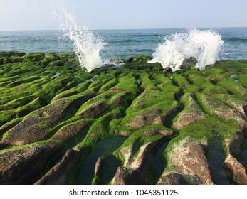 Landscape in Laomei Coast, Fuguei Cape, Jinshan, New Taipei City, Taiwan.