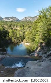 Landscape in Las Balsas del Coll de Nargo, Atl Urgell, Lleida, Catalonia, Spain