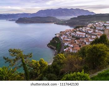 Landscape from Lastres, Asturias, Spain.