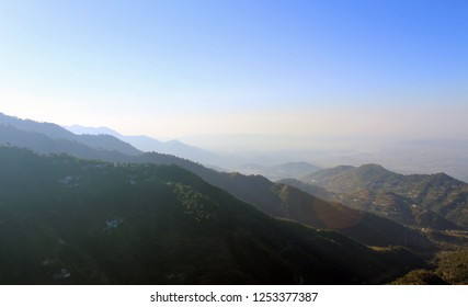 Landscape layers of Kasauli Mountain