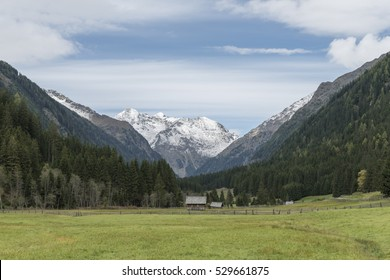 Landscape in the Lessachtal in Lungau in Austria