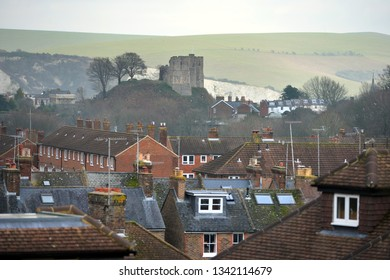 Landscape of Lewes, county town of East Sussex, UK