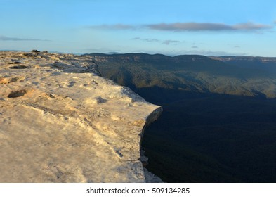 Landscape of Lincoln Rock Lookout with Grose Valley at sunrise  located within the Blue Mountains New South Wales Australia