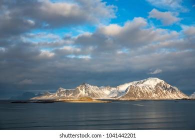 Landscape in Lofoten Islands, Norway.