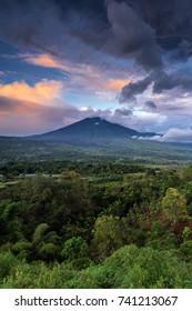 Landscape of Lombok, Mount Rinjani sunrise