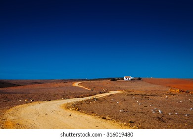 landscape with a lonely house/Portugal/Algarve