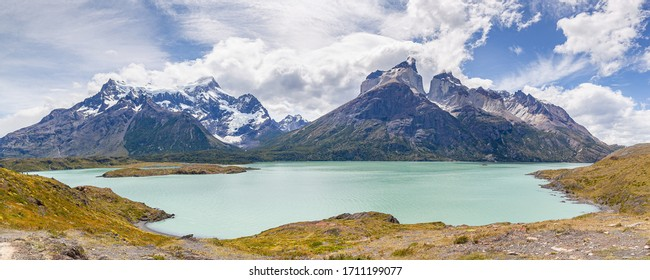 "Landscape of ""Los Cuernos"" (The Horns in English) and Nordenskjöld Lake - Torres del Paine National Park"